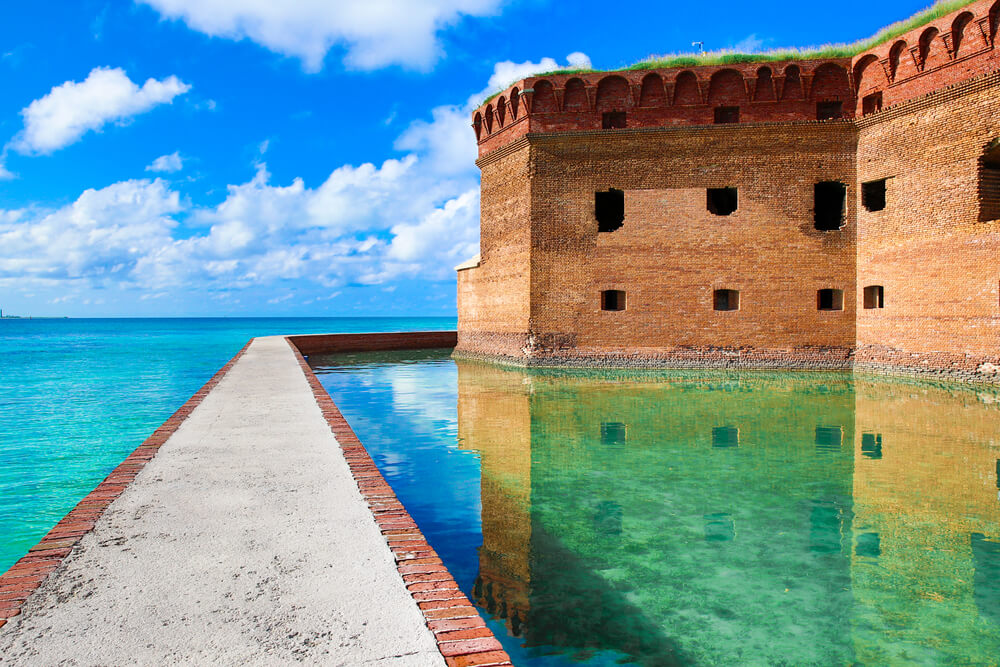 Dry Tortugas, a Key West national park.